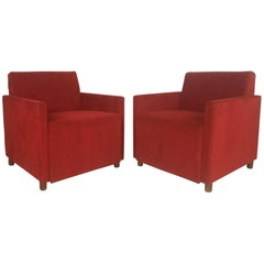 Mid-Century Modern Club Lounge Chairs