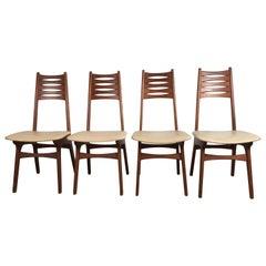 Set of Four Modernist Dining Chairs by Korup Stolefabrik, Denmark