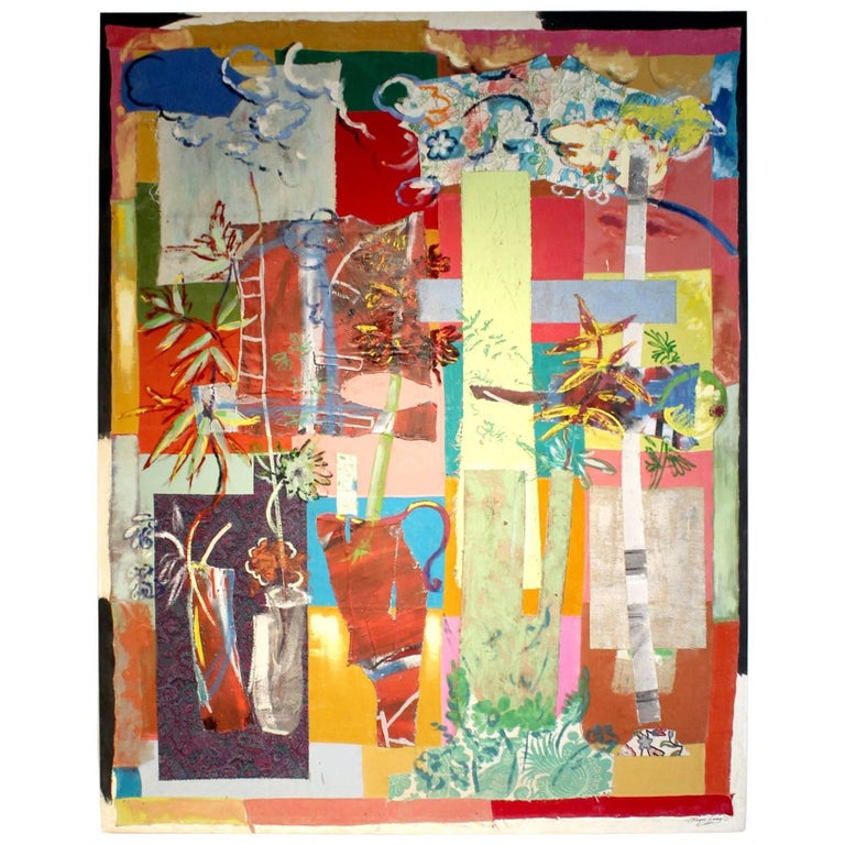 Giant Mixed-Media Abstract Painting by Artist Jacques Lamy
