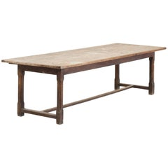 Oak Farmhouse Dining Table, circa 1890