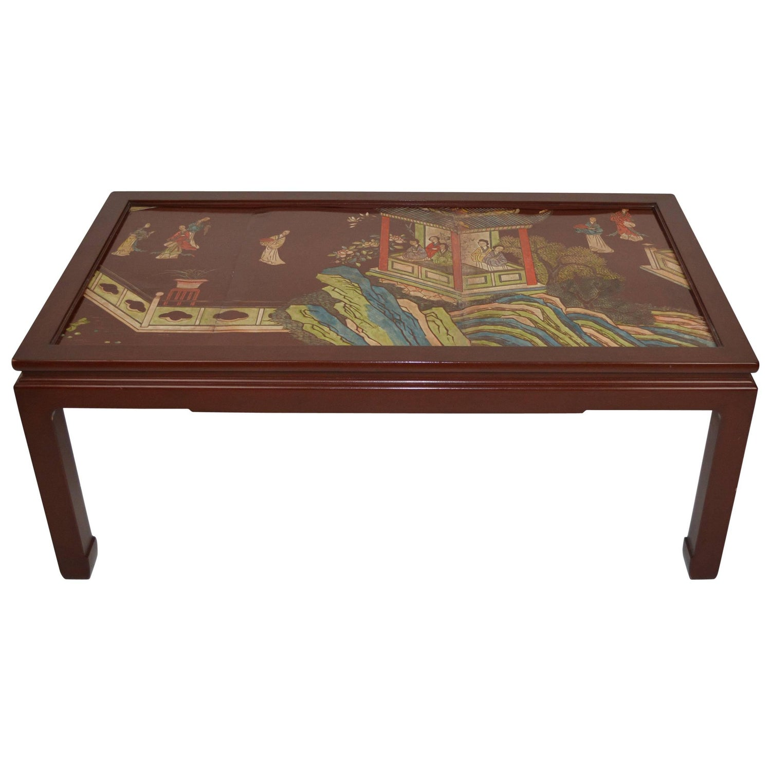 Chinese Coromandel Panel Coffee Table For Sale at 1stdibs