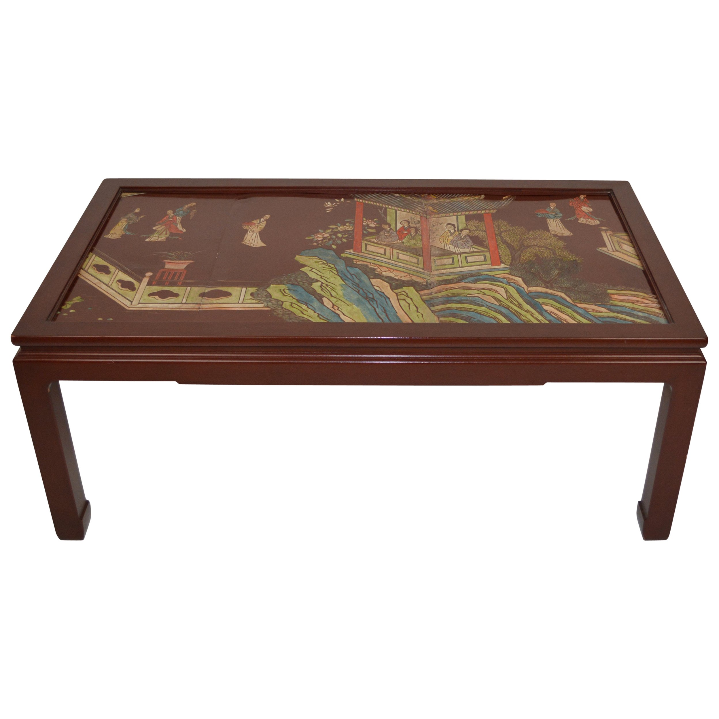 Chinese Coromandel Panel Coffee Table