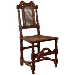 Oak Scottish Side Hall Chair Bergere Seat Fine Quality Victorian, circa 1880