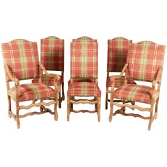 Antique Set of 'Os de Mouton' Dining Chairs