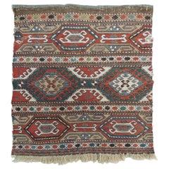 Vintage Tribal Design Kilim Rug Fragment