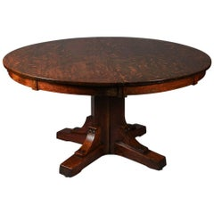 Antique Arts & Crafts Stickley Brothers Mission Oak Dining Table, circa 1910