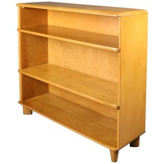 Mid-Century Modern Heywood Wakefield Champagne Maple Straight Bookcase