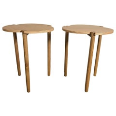 Pair of Modernist Italian Occasional Tables by Emanuela Frattina, Livio Fratelli