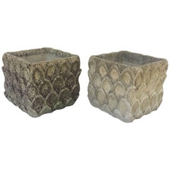 Pair of Cotswolds Garden Stone Planters from England