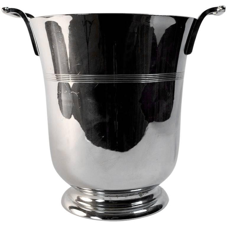 Art Deco Chrome Champagne Ice Bucket by Farberware