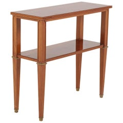 Antique Directoire Style Mahogany Console