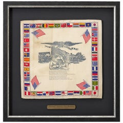 """The Farewell"" Patriotic Flag Bandana, Early 20th Century"