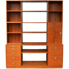 Finn Juhl Modular Teak Wall Unit / Office Shelving for France & Son