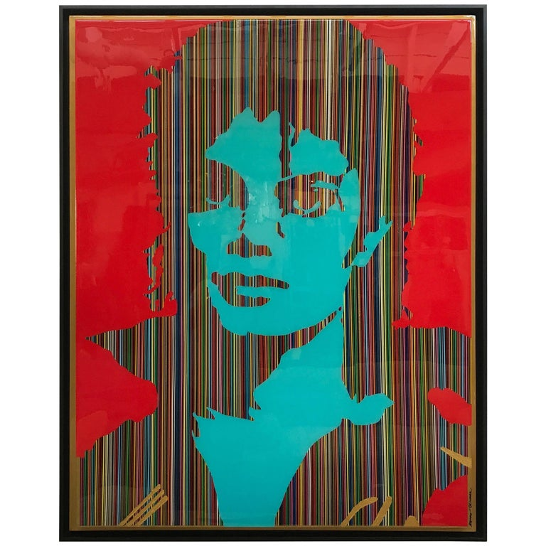 "Mauro Oliveira Michael Jackson Collage ""Super Pop"" Original Work of Art 1"
