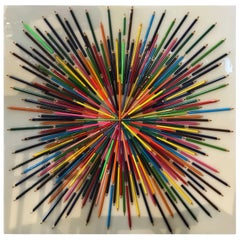 Mauro Oliveira Colored Pencils Signed Mixed-Media