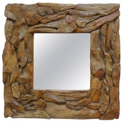 Organic Modern Driftwood Mirror