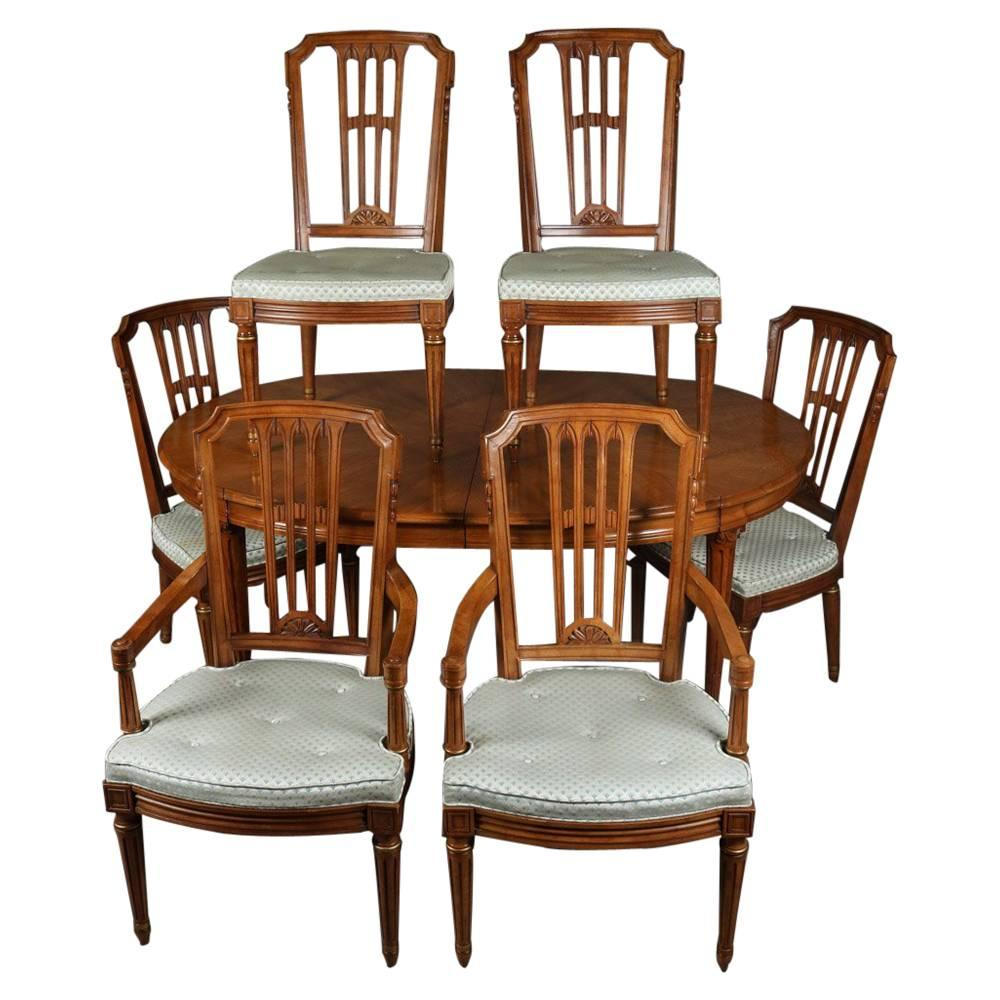 Beautiful French Regency Style Henredon Furniture Dining Table With Six Chairs 1