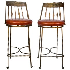 Pair of Iron Stools