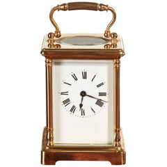 Antique Brass French Carriage Clock