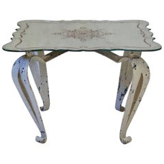 French 1940s Art Deco Coffee Table with Églomisé Top