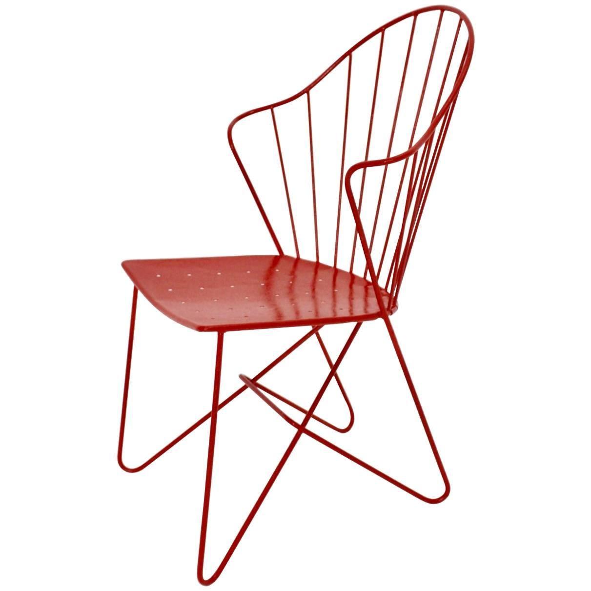 Red Astoria Vintage Side Chair by J.O.Wladar and V. Moedlhammer  Sonett c 1955