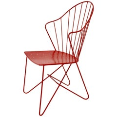 Red Astoria Side Chair by J.O.Wladar and V. Moedlhammer  Sonett c 1955