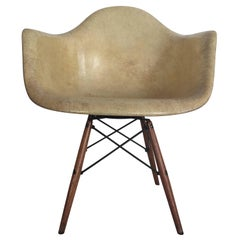 First Edition Charles Eames Paw Chair Swivel Fibreglass Shell Dowel Leg Walnut