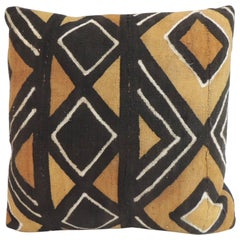 Vintage Graphic African Artisanal Textile Mud Cloth Decorative Pillow