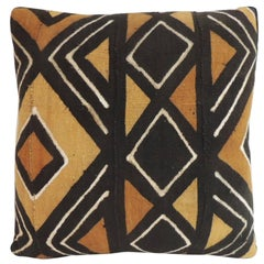 HOLIDAY SALE: Vintage African Artisanal Textile Mud Cloth Decorative Pillow
