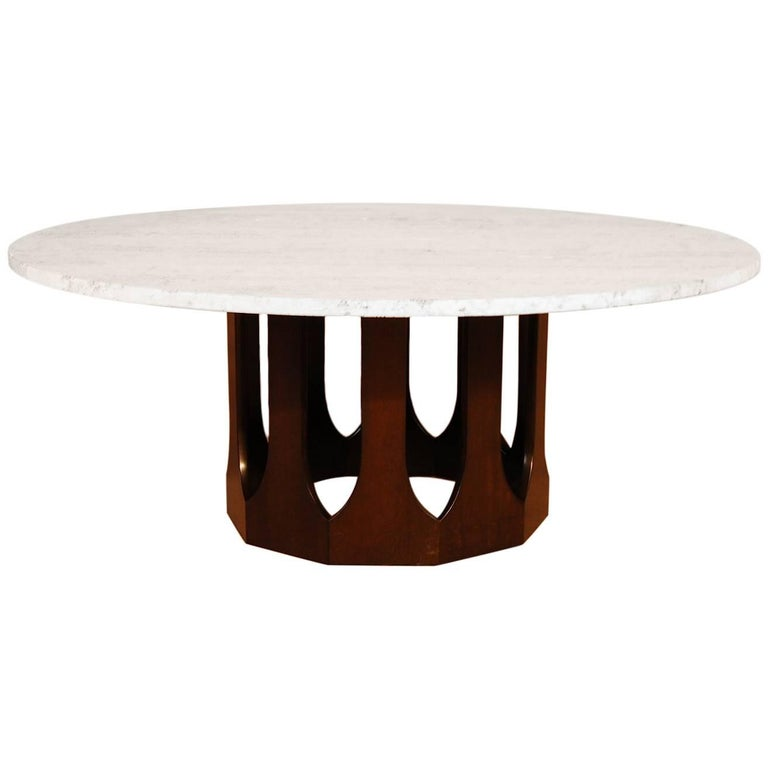 Harvey Probber Travertine Top Cocktail Table For Sale