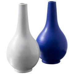 Swedish Ceramic Vases by Vicke Lindstrand, Upsala Ekeby, 1940s