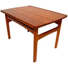1960s Scandinavian Modern Solid Teak Side Table