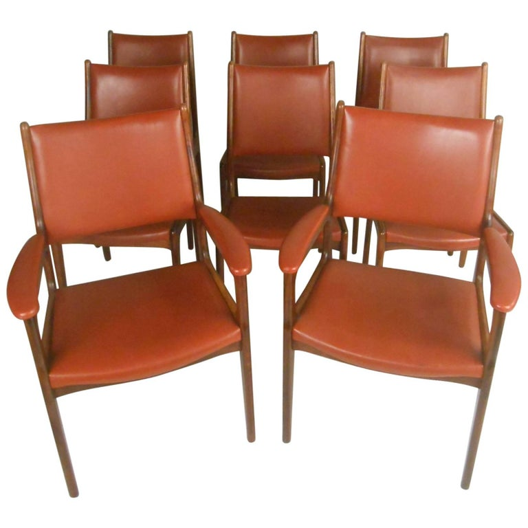Impressive Set of Eight Danish Dining Chairs