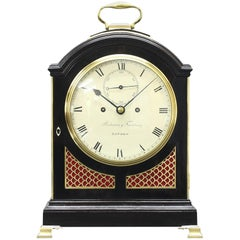 Japanned George III-Period Precision Bracket Clock by Parkinson & Frodsham