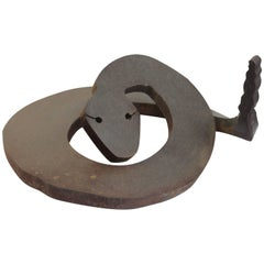 Brutalist Steel Rattlesnake Sculpture