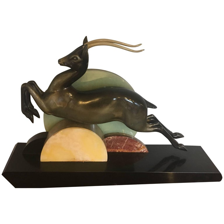 "Art Deco Spelter Sculpture by ""I Rochard"""