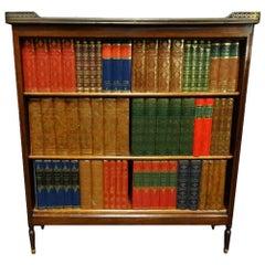 19th Century French Mahogany Adjustable Open Bookcase