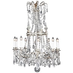 Versailles Louis XVI Style French Silver Chandelier, late 20th century