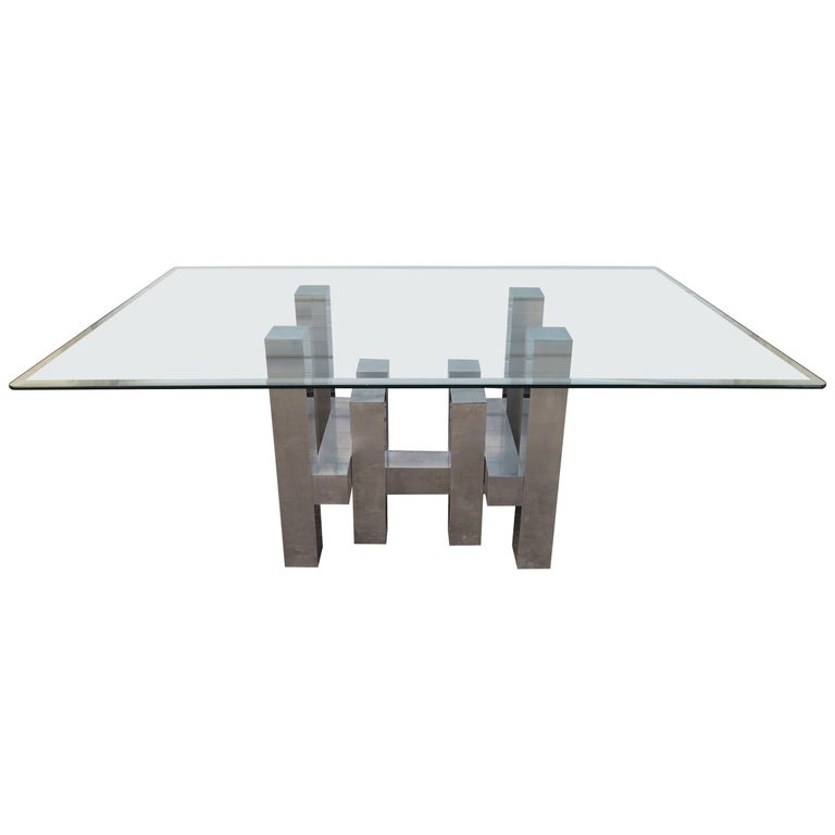 Stunning Architectural Aluminium Dining Table By Paul Mayen For Habitat