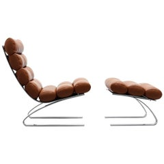 Sinus Lounge Chair with Ottoman by COR
