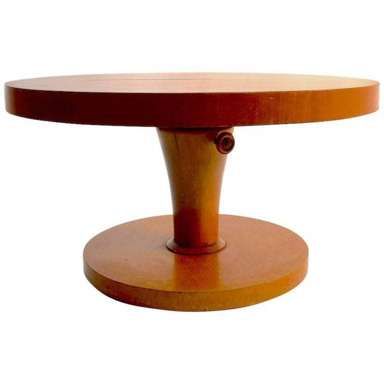 Adjustable Coffee Dining Table Made In Sweden For Sale At 1stdibs