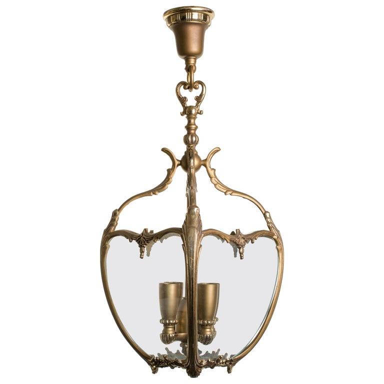 Bronze and Glass French Lantern