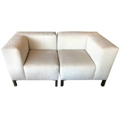 Pair of Chairs That Combine to Form a Loveseat