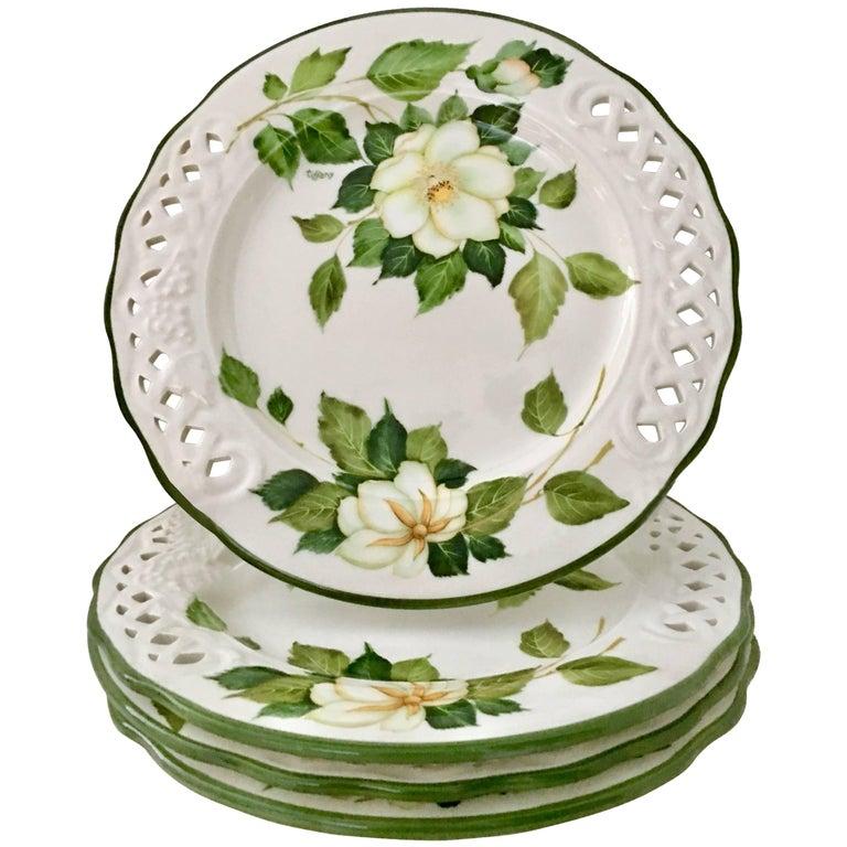 "Vintage Italy Brunelli ""Tiffany"" Dinner Plates, Set of ..."