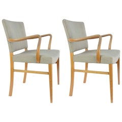 Pair of Armchairs by Ole Wanscher for A. J. Iversen
