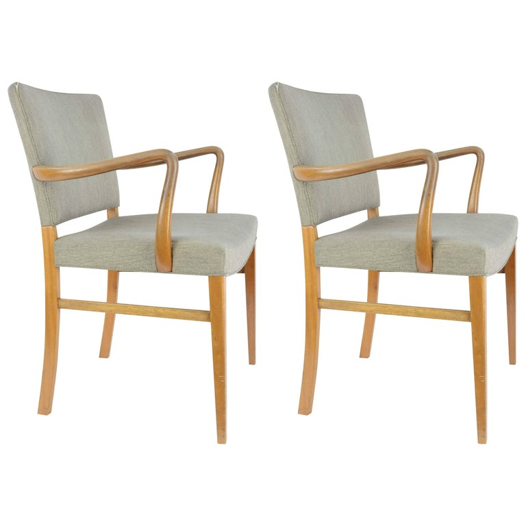 Pair of Armchairs by Ole Wanscher for A. J. Iversen For Sale