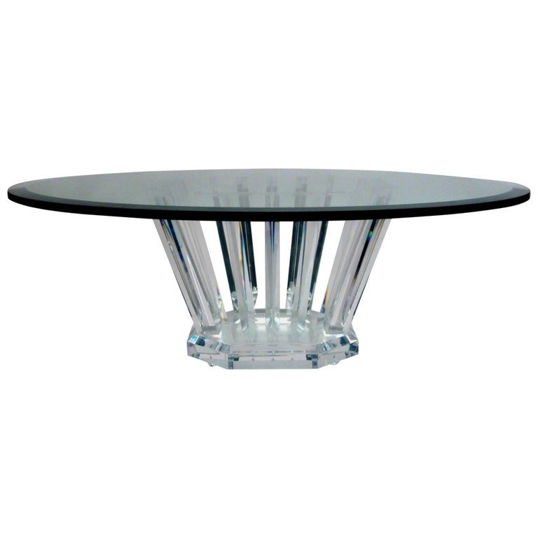 Lucite Coffee Table by Jeffrey Bigelow, circa 1970s