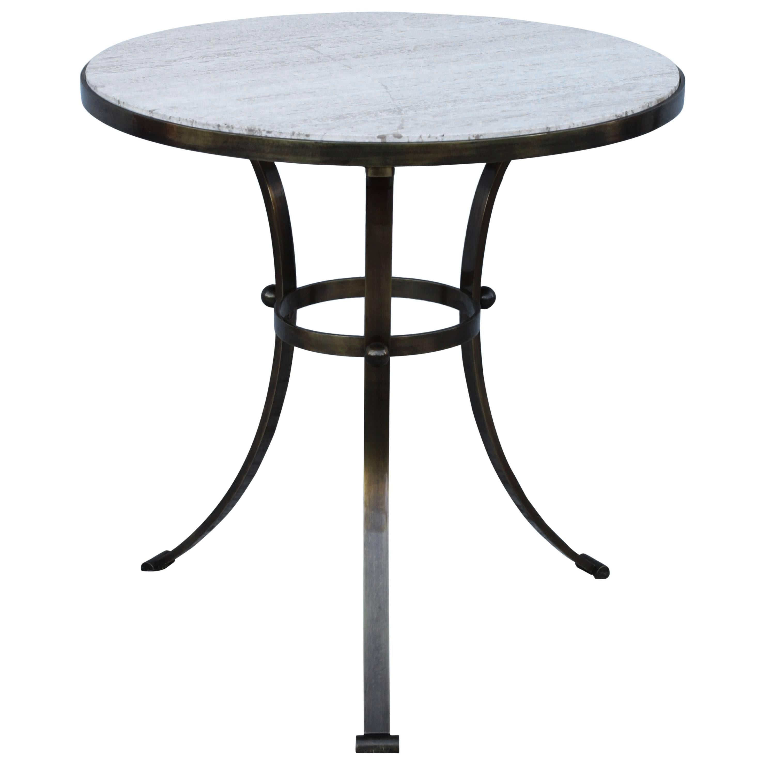 1960s Spanish Granite Top Side Table For Sale