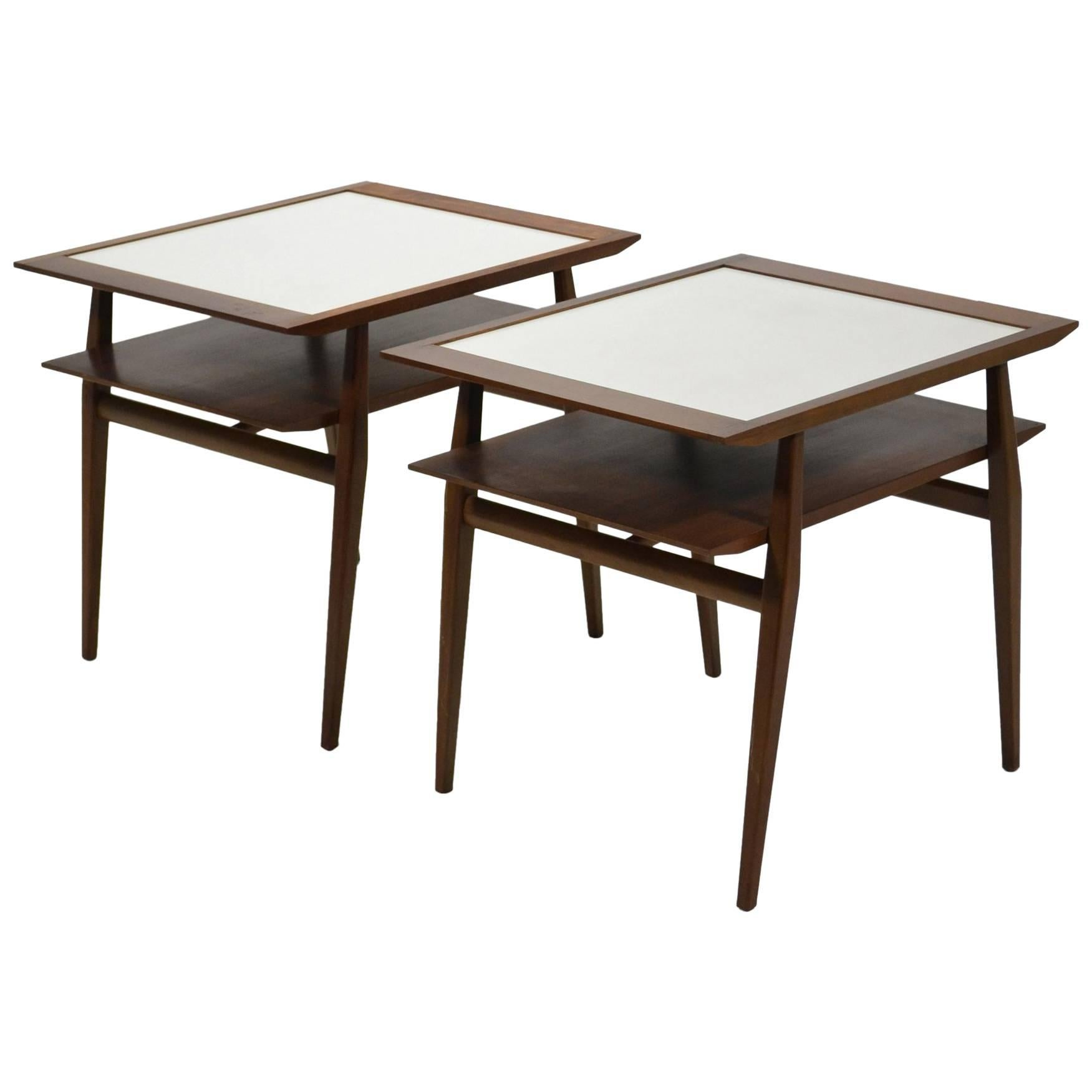 Bertha Schaefer Pair of End Tables by Singer & Sons