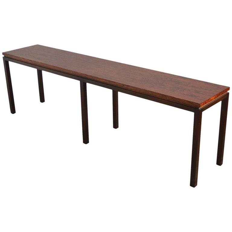 Harvey Probber Rosewood Console Table For Sale